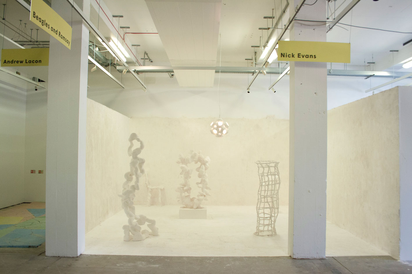 sculpture showroom install shot